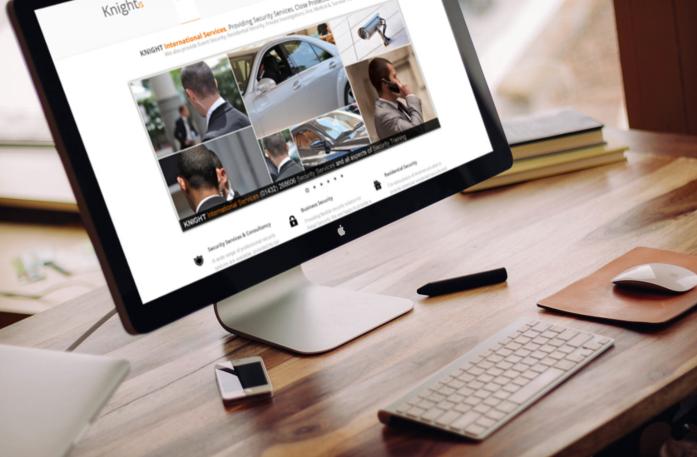 website design for security company web design