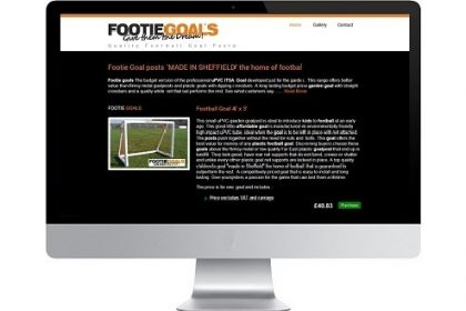Website Design FootieGoals.com
