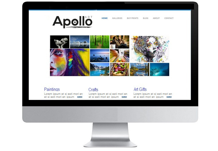 Website Design for Company Apollo Art Doncaster
