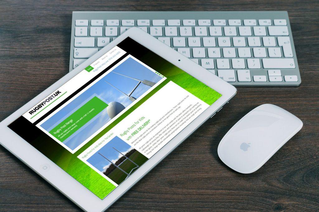 Website design sports company, WordPress CMS Website Design